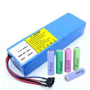 Litio Bateria 18650 60V 12AH litio ioi bateria berreskuratzeko bateria paketea