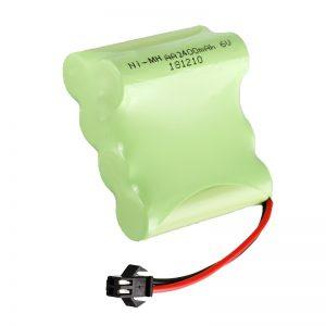NiMH bateria kargagarria AA2400 6V bateria jostailu elektrikoen erreminta bateria