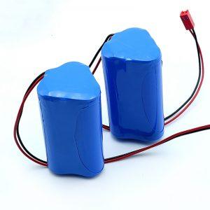 3S1P 18650 Li-ioi kargagarria 18650 10.8v 2250mah Litio ioizko bateria paketea