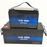 Deep Zikloa LiFePO4 Eguzki Bateria 12V 100Ah / 200Ah Golf Saskia Litio Ion Bateria