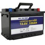 GEL / AGM ordezko Eguzki Energia Biltegiratzeko bateria 12v 100ah LifePo4 Litio ioi bateria