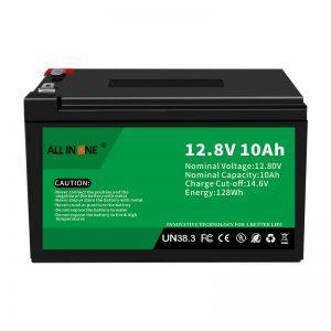 12,8V 10Ah LiFePO4 Berun azidoaren ordezko litio ioi bateria 12V 10Ah