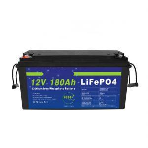 LiFePO4 Litiozko Bateria 12V 180Ah Bizikleta Elektrikoetarako Eguzki Energia Biltegiratzeko Sistemetarako