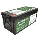 2.56KWh lifepo4 bateria 12v 200Ah 6000 zikloko rv bateria saltzen du