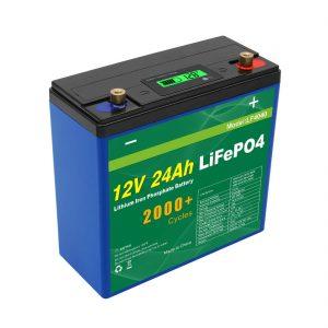 Eguzki sakoneko zikloa 24v 48v 24ah Lifepo4 bateria UPS 12v 24ah bateria