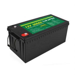 ALL IN ONE Litio Ion Bateria 12V 300Ah LiFePo4 Biltegiratze Bateria