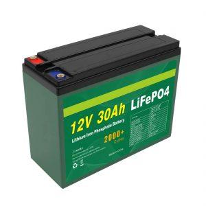 OEM bateria 12V 30Ah 4S5P litio kargagarria 2000+ ziklo sakoneko Lifepo4 zelula fabrikatzailea