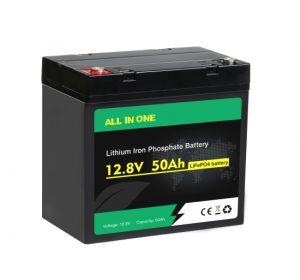 ALL IN ONE Lifepo4 bateria 12v 50ah ziklo sakona