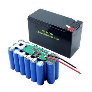 ALL IN ONE 18650 3S5P 12 Voltoko Litiozko Bateria 11Ah Litiozko Bateria Kargagarria