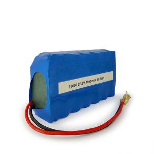 Pertsonalizatutako ICR18650 li-ion bateria 6S2P kargagarria 22,2v 4000mAh litio ioi bateria