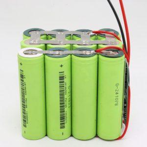 Handizkako 18650 litioko 4s3p iragazgaitzezko PCB taula handiko ziklo sakoneko bateria 12v 10AH botere tresnarako