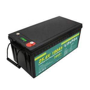 Eguzki kale argirako 24v180ah (LiFePO4) bateria kargagarria