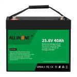 25,6V 40Ah Litio Burdin Fosfato Bateria / Ordezkapena