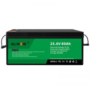 25,6V 80Ah segurtasuna / bizitza luzeko LFP bateria RV / Caravan / UPS / Golf Saskia 24V 80Ah