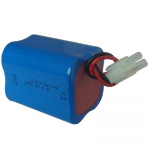 lifepo4 eguzki argiko bateria 6.4v 6ah 2S2P eramangarria