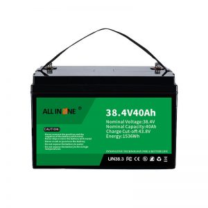 8.4V 40Ah Litio Burdin Fosfato Bateria VPP / SHS / Itsas / Ibilgailuetarako 36V 40Ah