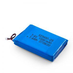 LiPO Bateria kargagarria 523450 3.7V 1000mAH / 7.4V 1000mAH / 3.7V 2000mAH