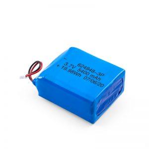 LiPO Bateria kargagarria 624948 3.7V 1800mAH / 3.7V 5400mAH