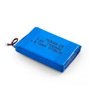 LiPO Bateria kargagarria 753048 3.7V 1100mAh / 7.4V 1100mAH / 3.7V 2200mAH