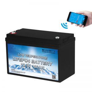 Tenperatura baxuko LiFePO4 Bateria 12V 100AH