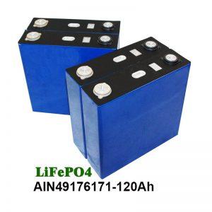 Eguzki sistemako motozikletentzako UPS LiFePO4 Bateria Prismatikoa 3.2V 120AH